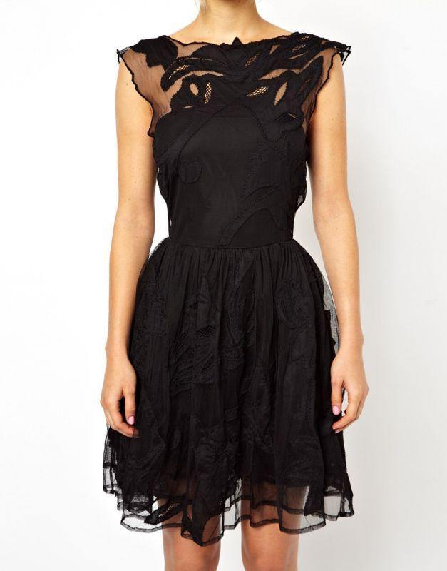 robe de soiree noir asos la mode des robes de france. Black Bedroom Furniture Sets. Home Design Ideas