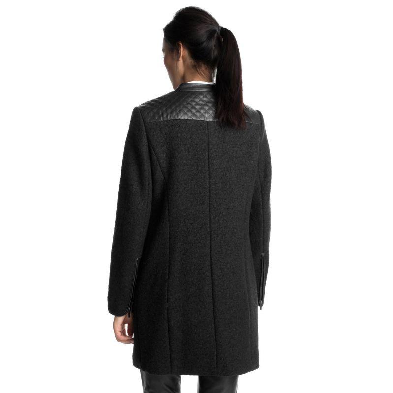 veste d 39 automne pour femme noire guide boutiques de mode guide shopping mode. Black Bedroom Furniture Sets. Home Design Ideas