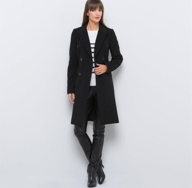 check-out 5090f 33ef2 Manteau mi-long d'hiver femme en velours de laine - Guide ...